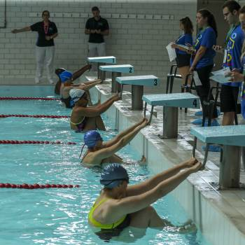 Precision is paramount when it comes to the swimming competition at UN's 46th Inter-Agency