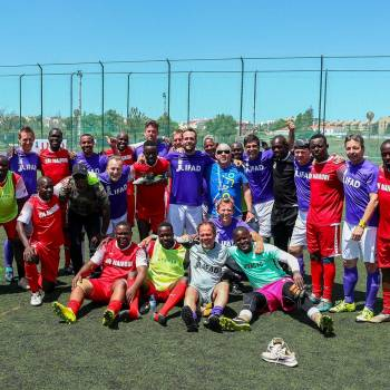Football players at UN's 46th Inter-Agency Games
