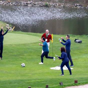 Team-building activity based on footgolf